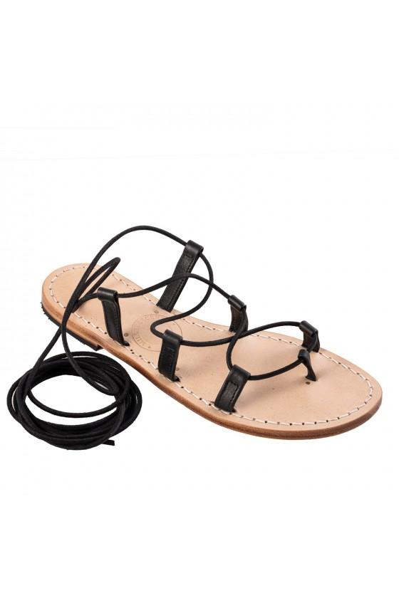 Women's High Knee black gladiator sandals