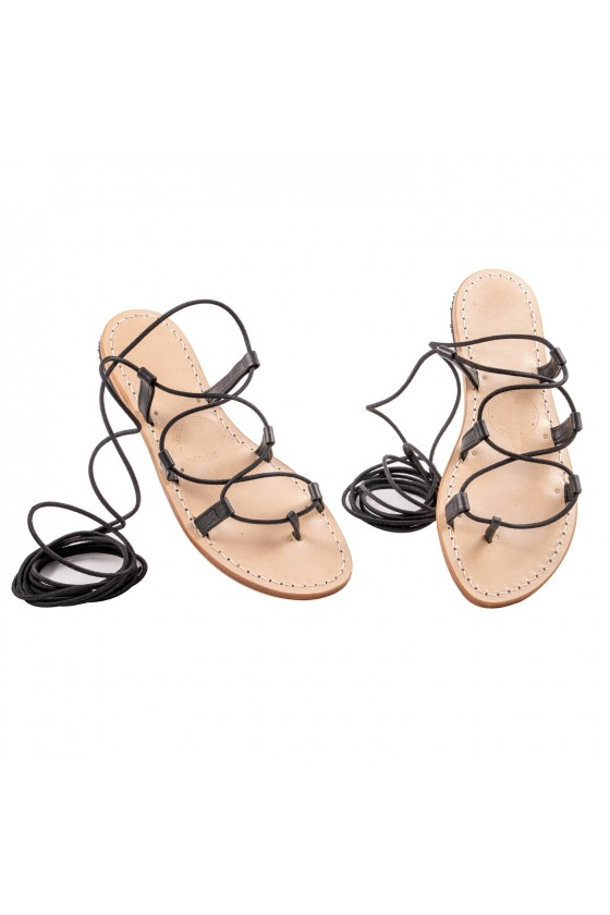 Bologna Black Gladiator Sandals