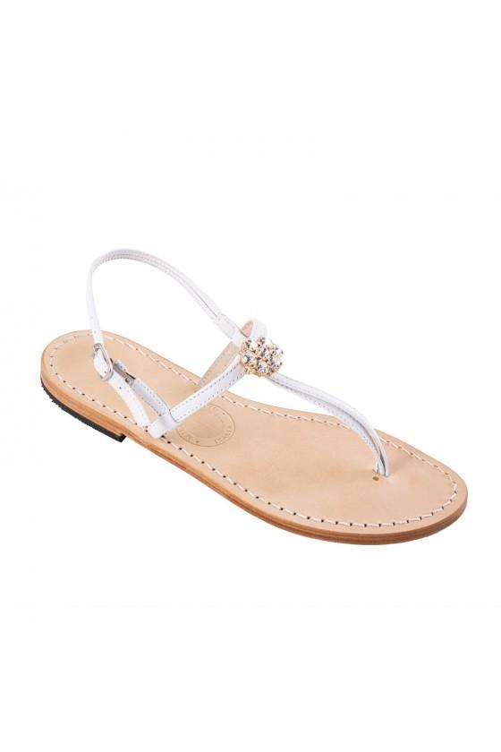 Cinque Terre Jeweled flat sandals